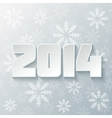 Happy new year 2014 design vector image vector image