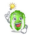 have an idea chinese cabbage vegetable isolated on vector image vector image