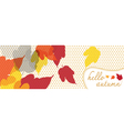 hello autumn banner with dot pattern vector image vector image