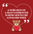 Inspirational love marriage quote A sure sign of a vector image vector image