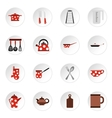 Kitchen utensil icons set flat style vector image vector image