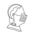line art black and white historycal helmet vector image vector image