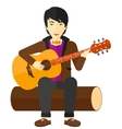Man playing guitar vector image vector image