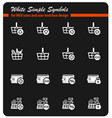 marketing and e-commerce icon set vector image vector image