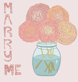 MarryMeBouqet vector image