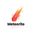meteorite impact geometric polygonal logo icon vector image vector image