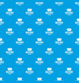 military hat pattern seamless blue vector image vector image