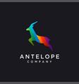 minimalist rainbow antelope logo icon template vector image vector image
