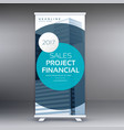 modern standee display design roll up banner vector image vector image