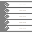 Modern white Design template vector image vector image