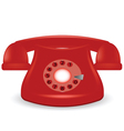 old red phone vector image vector image