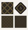 ornamental geometric patterns vector image