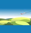 panorama countryside horizon fields vector image vector image