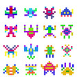 pixel monsters set vector image