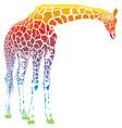 rainbow giraffe vector image vector image