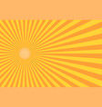 retro sunburst ray in vintage style abstract vector image