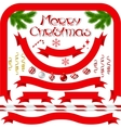 Ribbons and banners with Merry Christmas vector image