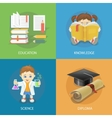 School design concept set with education diploma vector image vector image