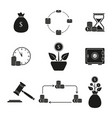 set return of investment icons vector image