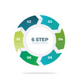 six step circle infographic vector image vector image