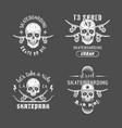 skateboarding skull emblem set vector image vector image
