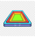 small stadium icon cartoon style vector image vector image