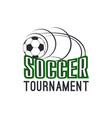 soccer football league tournament ball icon vector image vector image