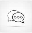 speech bubbles flat line trendy black icon eps10 vector image
