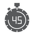stopwatch glyph icon countdown and time timer vector image vector image