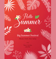 summer natural placard poster flyer or vector image