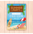 Summer party advertising poster design
