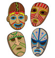 tribal masks collection vector image