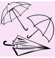 umbrella silhouette vector image