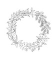 vintage wreath of leaves vector image