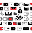 wallet or pocketbook icon seamless borders or vector image vector image