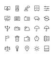Web and User Interface Outline Icons 10 vector image