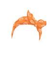 woman hair bandana or headband with bow realistic vector image vector image