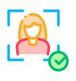woman winner human talent icon vector image vector image