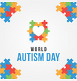 world autism day design for banner or background