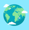 world round flights vector image vector image