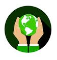 Globe Hand 01 vector image