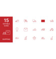 15 shipping icons vector image vector image