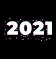 2021 logo happy new year with glitch effect