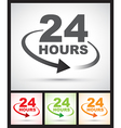 24 hours set vector image vector image
