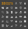 33 cleaning icons 02 vector image vector image