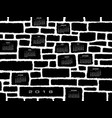 a 2018 calendar made from a stone wall vector image vector image