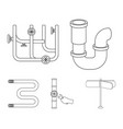 a siphon a towel warmer and other equipment vector image vector image