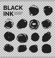 abstract background set black ink vector image