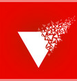 abstract triangle with explosion on small vector image