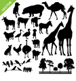 Aniaml and farm silhouette vector image vector image